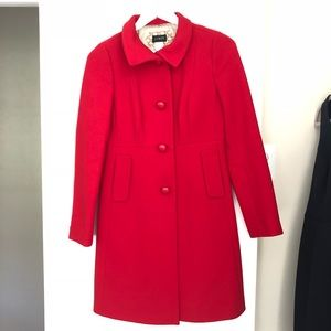 J. Crew Red Wool Coat